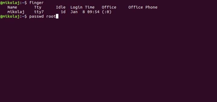 Odzyskanie hasła w systemie Linux